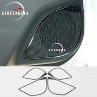 for toyota chr c hr 18 19 4pcs black titanium car door stereo speaker loudspeaker ring trim cover decorate