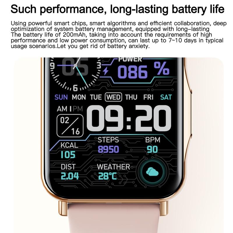 2021 Q15 Smart Watch Women Men 1.69 Colorful Screen Multi-Sports Mode Cutoms Watch Faces Heart Rate Fitness Tracker Smartwatch
