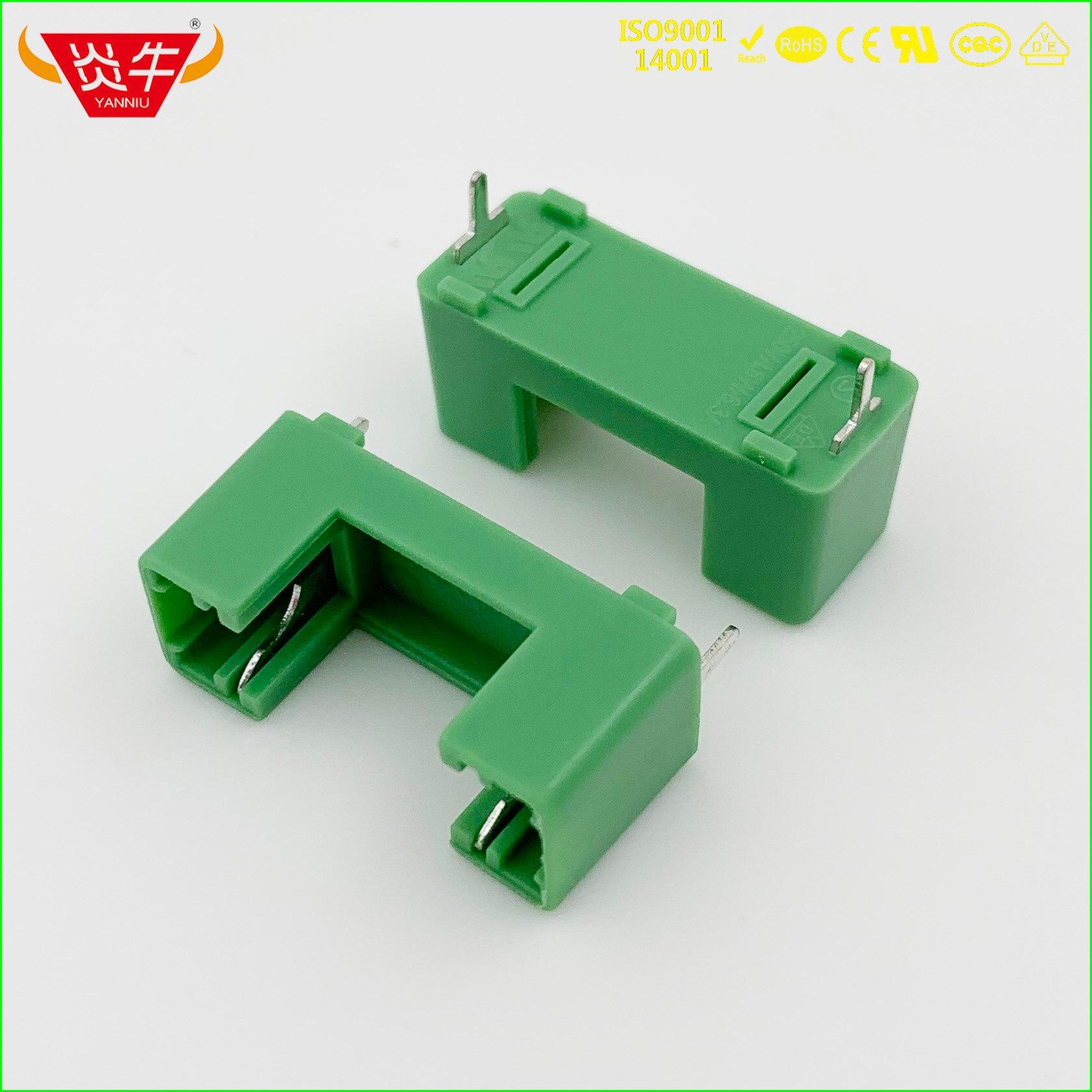 Conector PCB verde 5*20 fusible caja de enchufe protección ambiental ignífugo BLX-A tipo asiento de cable