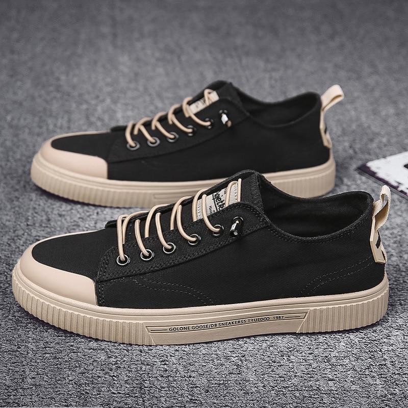 Men Vulcanize Shoes New Canvas Shoes Men Comfort Men Shoes Fashion Sneakers Men Casual Sheoes Design