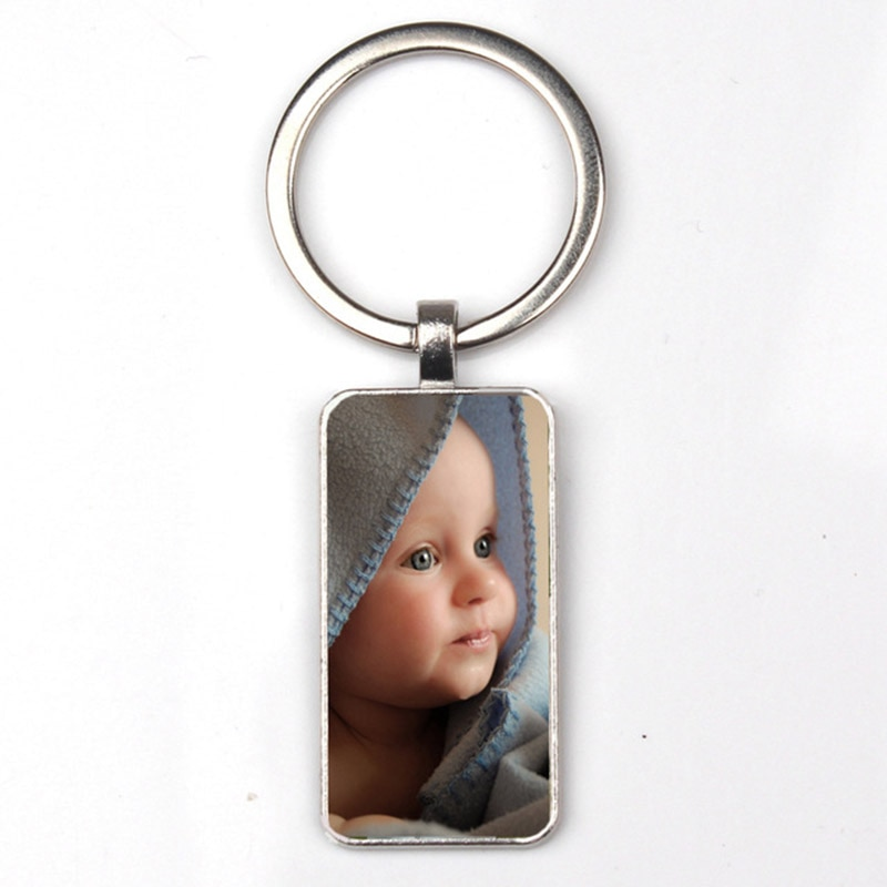 Фото - Personalizeds Photo Pendants Custom Rectangular Keychain Photo Of Your Baby Child Mom Dad Grandparent Loved Gift Family Member-1 member
