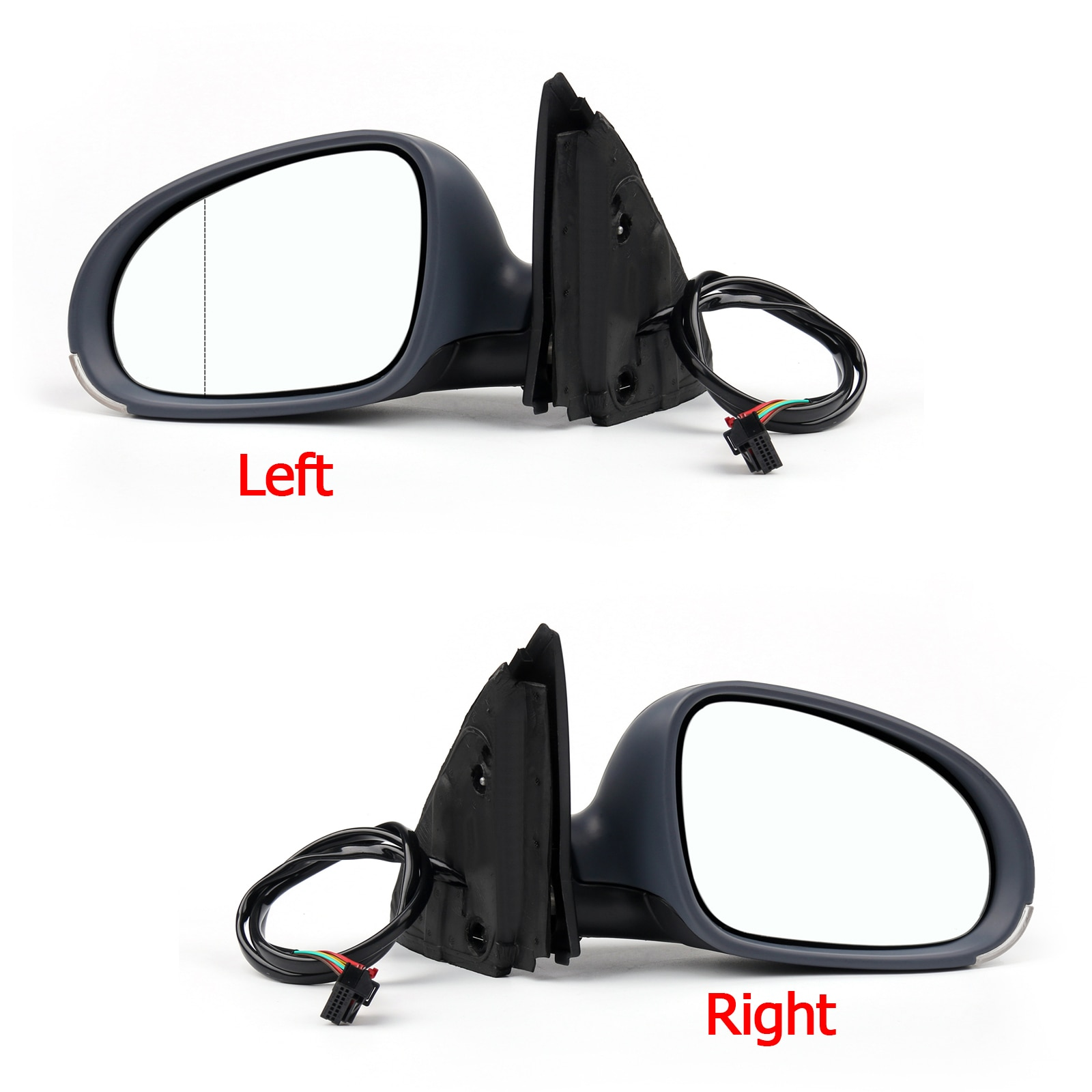 Areyour shop espejo lateral convexo calentado se adapta a VW JETTA MK5 2005-2009 espejo calefactor eléctrico partes de coche lado izquierdo/Derecho