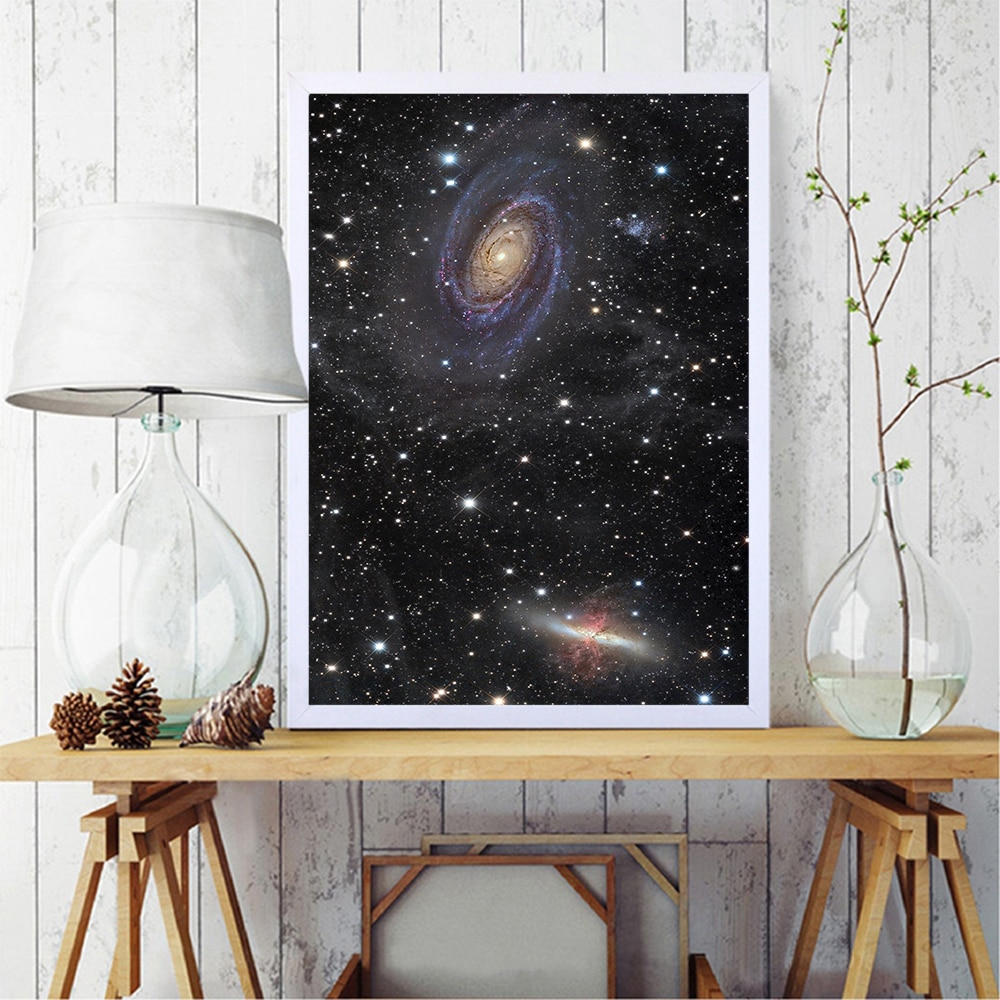 Carteles nórdicos con cielo estrellado, cuadro sobre lienzo para pared, imágenes, decoración...