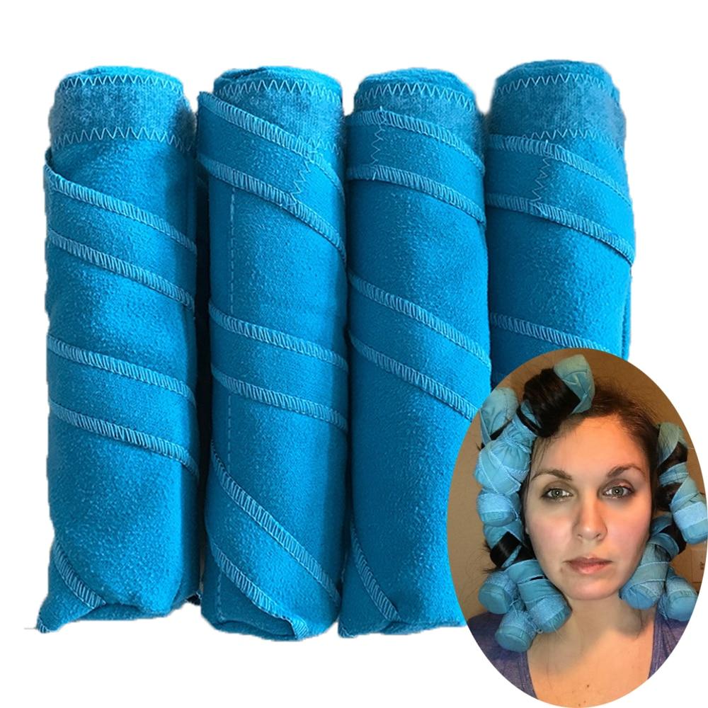 8 12 pcs rolos de cabelo sono styler kit longo algodao rolos diy magia cabeleireiro