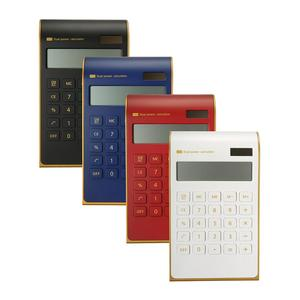 4 colorsElegant Dual Power Solar Calculator Desktop Calculator Tilted LCD Display Ultra Thin For Office School