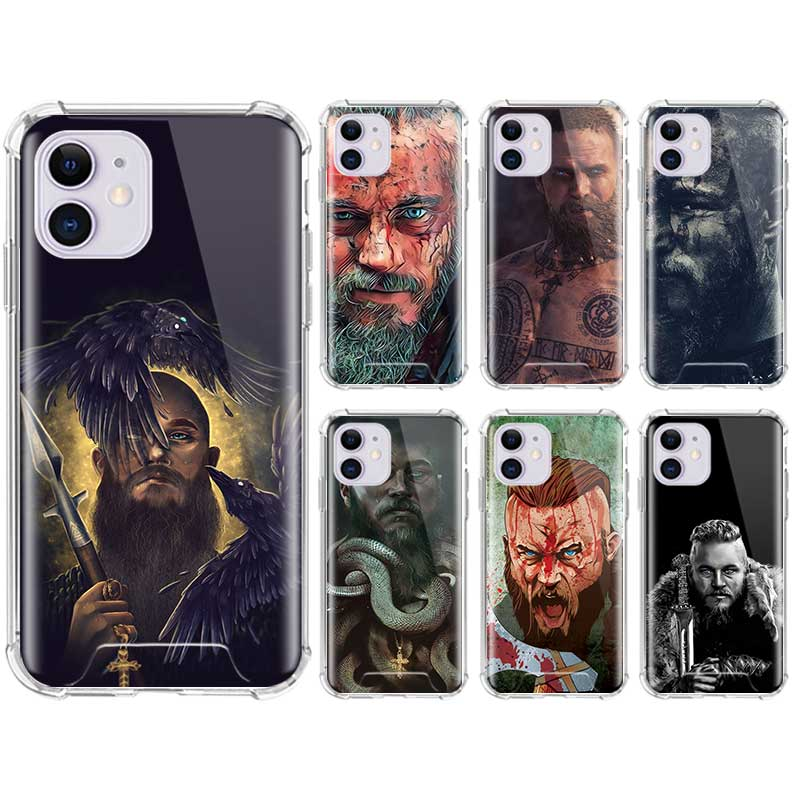 Funda de teléfono suave para iPhone 11 Pro Max SE 2020 X XS XR 6 7 8 Plus fundas de aire a prueba de caídas Coque Ragnar Lothbrok Vikings