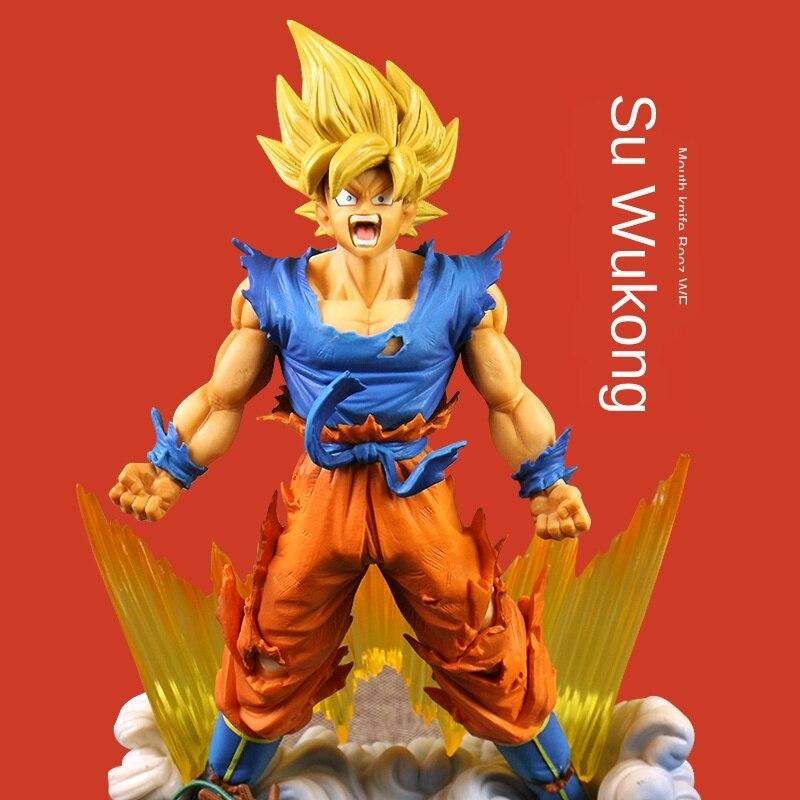 23cm de Dragon Ball Z Gogeta Anime figura de acción juguetes Figma Stardust interruptor ira Gogeta Vegeta leyenda figura modelo DBZ muñeca de juguete