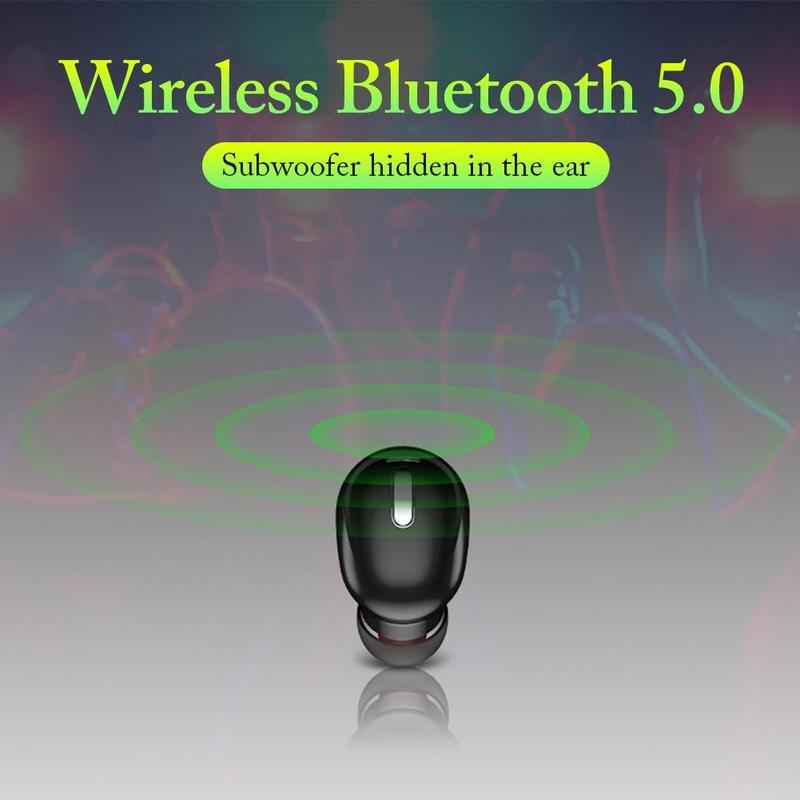 Sports Headset Mini Bluetooth Headset Unilateral Stereo Single Ear Earplugs Bluetooth 5.0 Wireless HIFI Stereo Heavy Bass enlarge