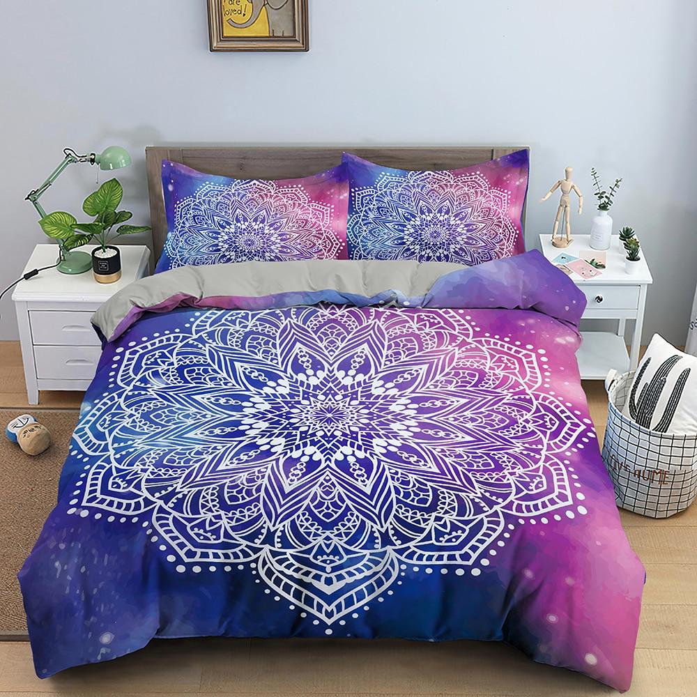 3D Colorful Mandala Duvet Cover Floral Bedding Set Bed Linen Home Textile Bedclothes Soft Bed Set Twin/Queen/King Size