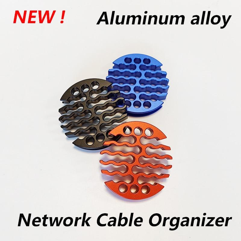 30 ثقوب شبكة منظم الكابلات سبائك الألومنيوم إدارة كابل مشط جهاز التوجيه خزانة شبكة غرفة لكابل فئة 5/6