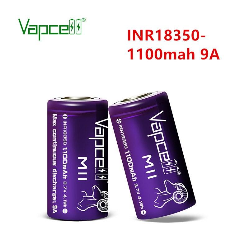 Batería de litio para linternas Vapcell, nueva versión Original 18350 M11 1100mah 9a mooch / HKJ test 3,7 V INR18350