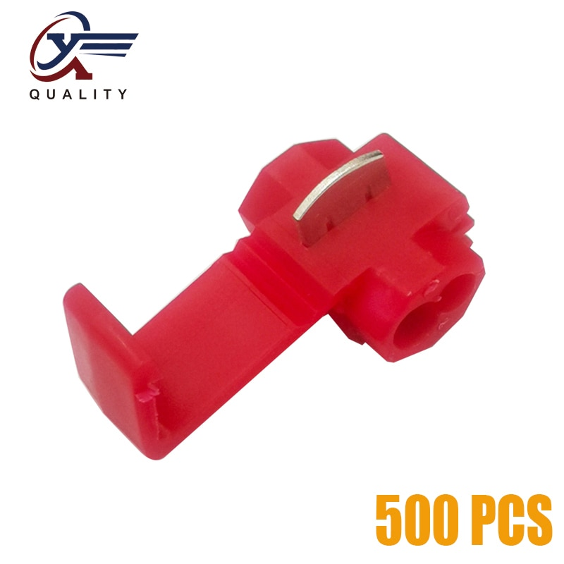 lot100pc self locking electrical cable connector quick splice lock wire terminal 2 pins electrical cable connectors quick splice 500Pcs Electrical Wire Cable Crimp Terminals Quick Splice Red Electrical Cable Connectors Fast Lock Wire Terminals Crimp