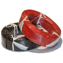 UL1015 fils électroniques câble toronné   1 mètre cordon de câble toronné 14AWG 16AWG 18AWG 20AWG 22AWG 24AWG couleur noir/rouge
