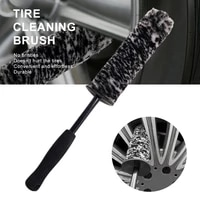 microfiber wheel brush car cleaning kit non slip handle wheel wash detailing brush for auto cleaning brush accessories tools