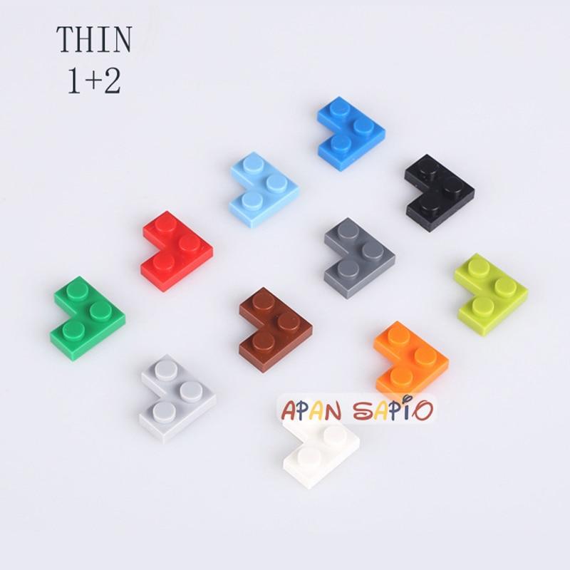 DIY строительные блоки тонкие 1 + 2 точки 320 шт./лот развивающие творческие фигурки Кирпичи Детские игрушки для детей, совместимые с Legoe
