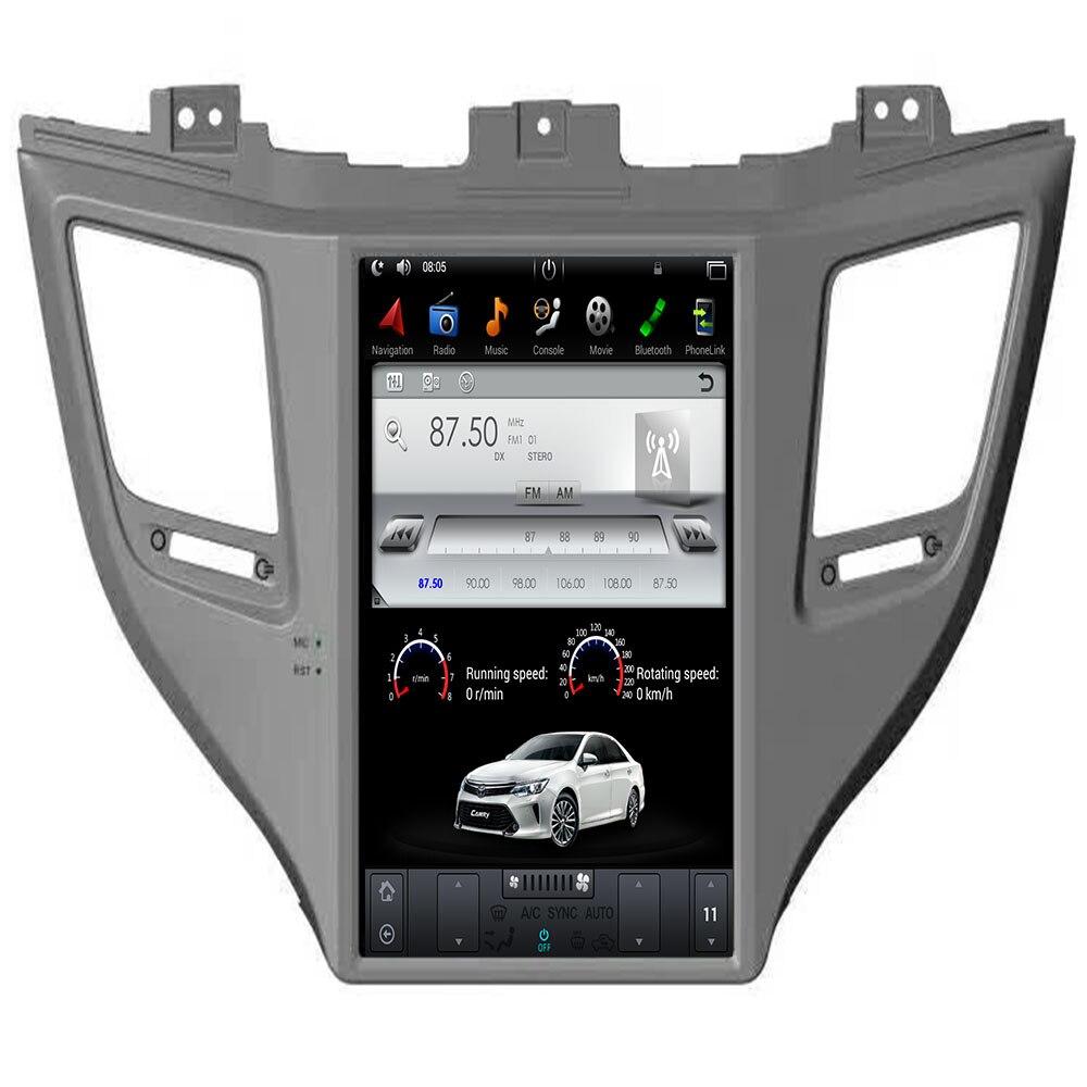 Tesla ips tela android 9.0 7.1 carro sem cd dvd player rádio navegação gps para hyundai tucson 2015 2016 2017 2018 19 unidade central