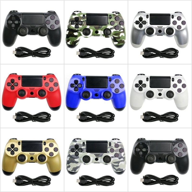 Беспроводной Bluetooth геймпад, пульт дистанционного управления для PS4, игровой контроллер, Вибрационный джойстик, геймпады для консоли PS 3, WIN 7, 8...