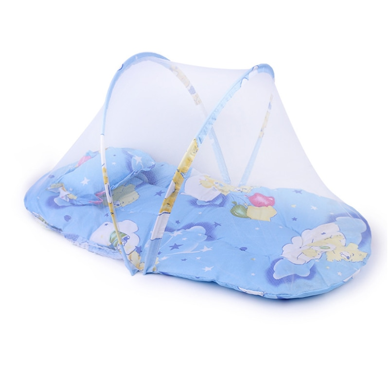 baby crib netting baby bed mosquito nets mattress pillow portable mosquito net tent crib sleeping cushion collapsible for kids baby net  Baby Crib Netting Portable Foldable Baby Bed Mosquito Net  Baby Cartoon Foldable Crib Tent Cushion Mattress