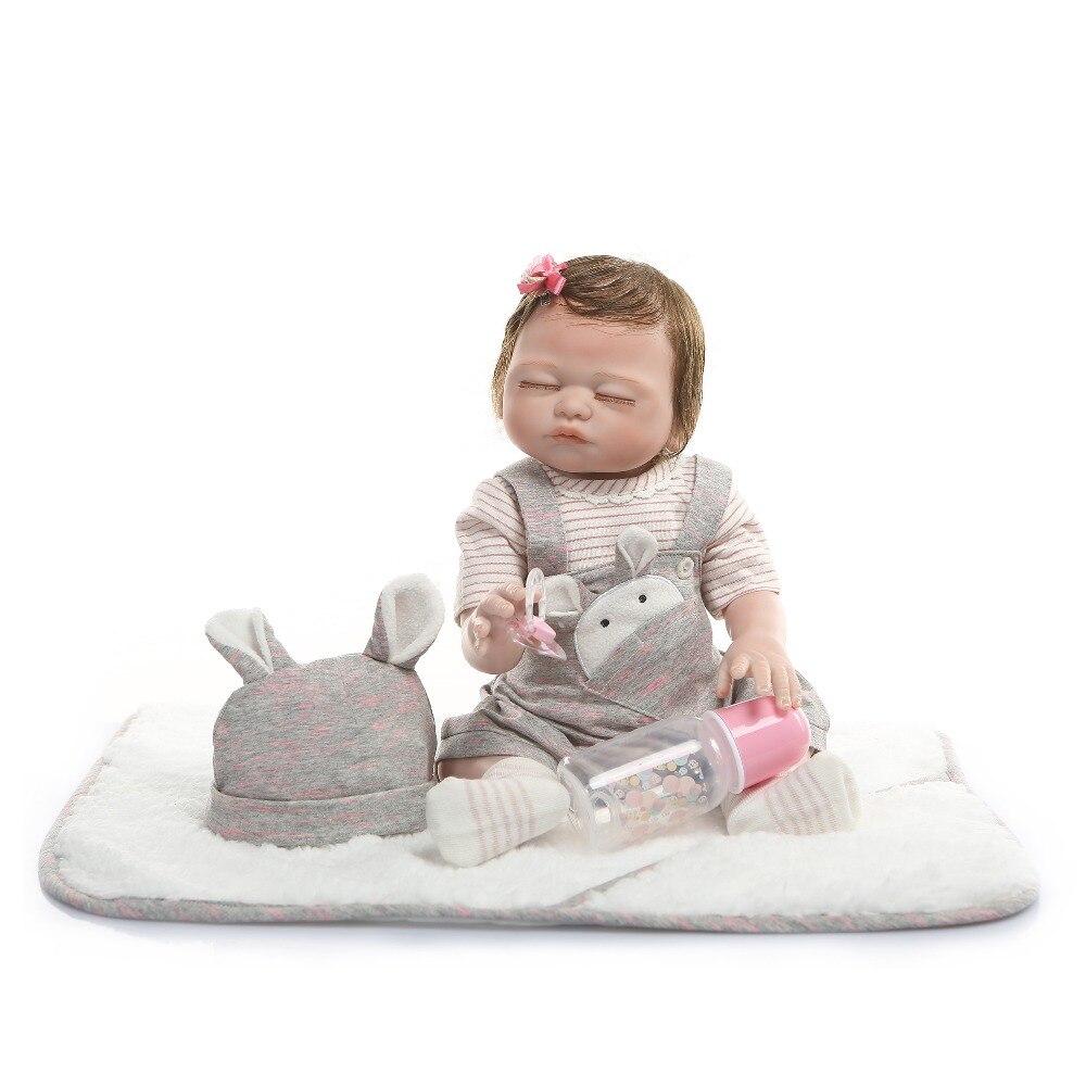 NPK 49CM cuerpo completo silicona reborn baby dolls gemelos niño y niña bebes pintura de mano reborn piel roja enraizada pelo impermeable juguete