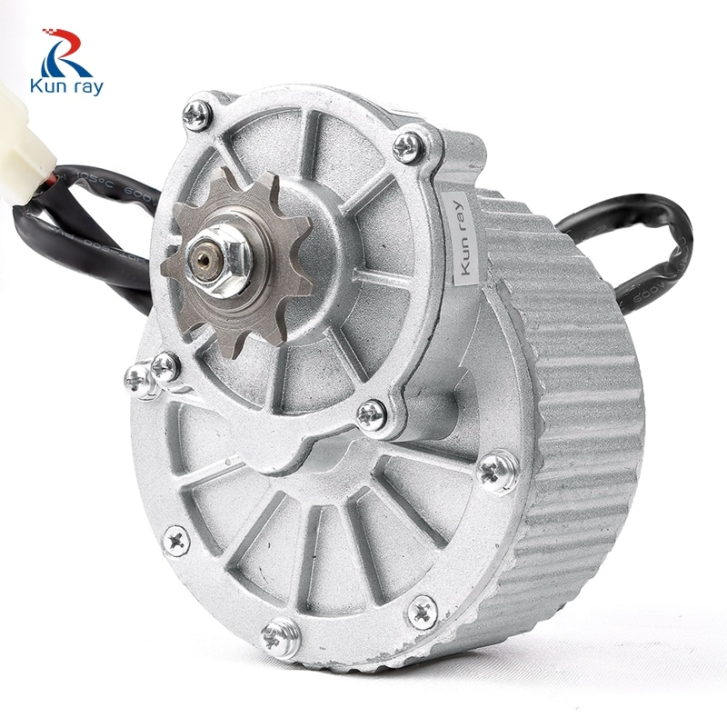 KUNRAY MY1018 250W 24V 36V Brushed Gear DC Motor For Electric Bike Engine Ebike Rear Wheel Motor E-Scooter Bicycle Accessories