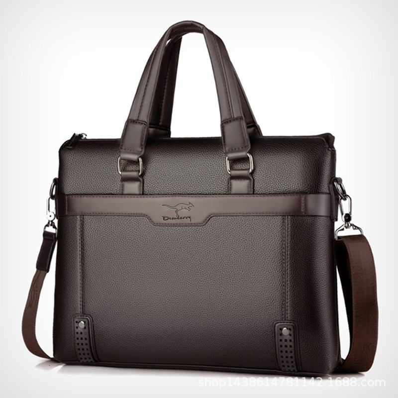 Marka poslovna muška aktovka, visokokvalitetna kožna torba za muškarce, laptop torba, glasnička torba za muškarce