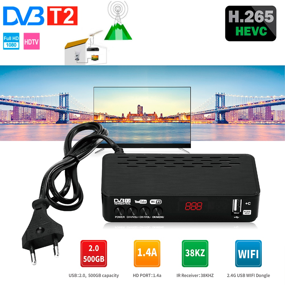 DVB HD 911 T2 استقبال الأقمار الصناعية واي فاي الحرة صندوق التلفزيون الرقمي DVB T2 DVBT2 موالف DVB C IPTV M3u يوتيوب مجموعة صندوق