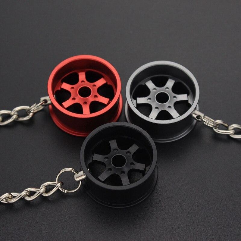 Porta-chaves para carro de alumínio roda aro modelo chaveiros mosquetão para chaves acessórios de automóvel gadgets trinket chaveiro titular