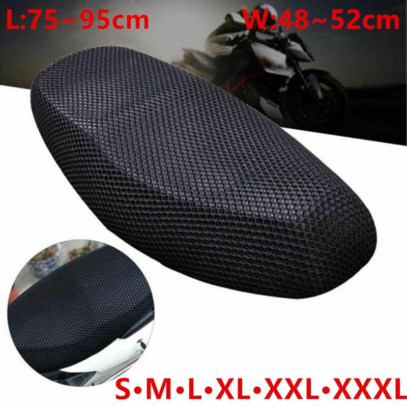Motorcycle Seat Cushion Cover S/M/L/XL/XXL/XXXL Net 3D Mesh Protector Insulation Cushion Cover Electric Bike Universal