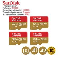 SanDisk 100% original SanDisk carte mémoire extrême 32GB 64GB 128GB 256GB SDHC classe 10 U3 micro SD TF carte garantie de 10 ans