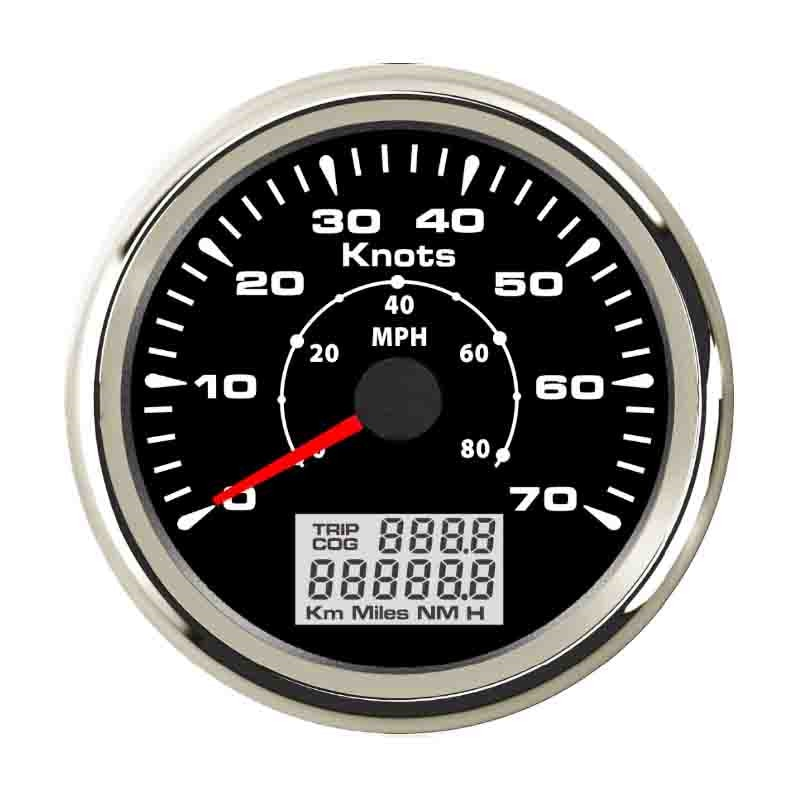 85mm Marine GPS Speedometer 70Knots Odometer Trip With Various Backlight And GPS Sensor  - buy with discount