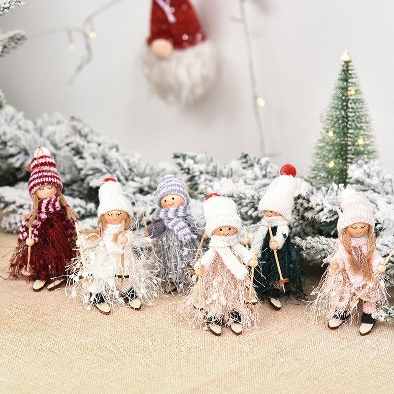 Новый год Рождественская Кукла-Ангел Рождественская елка кулон рождественские украшения, рождественские украшения для дома натальные под...