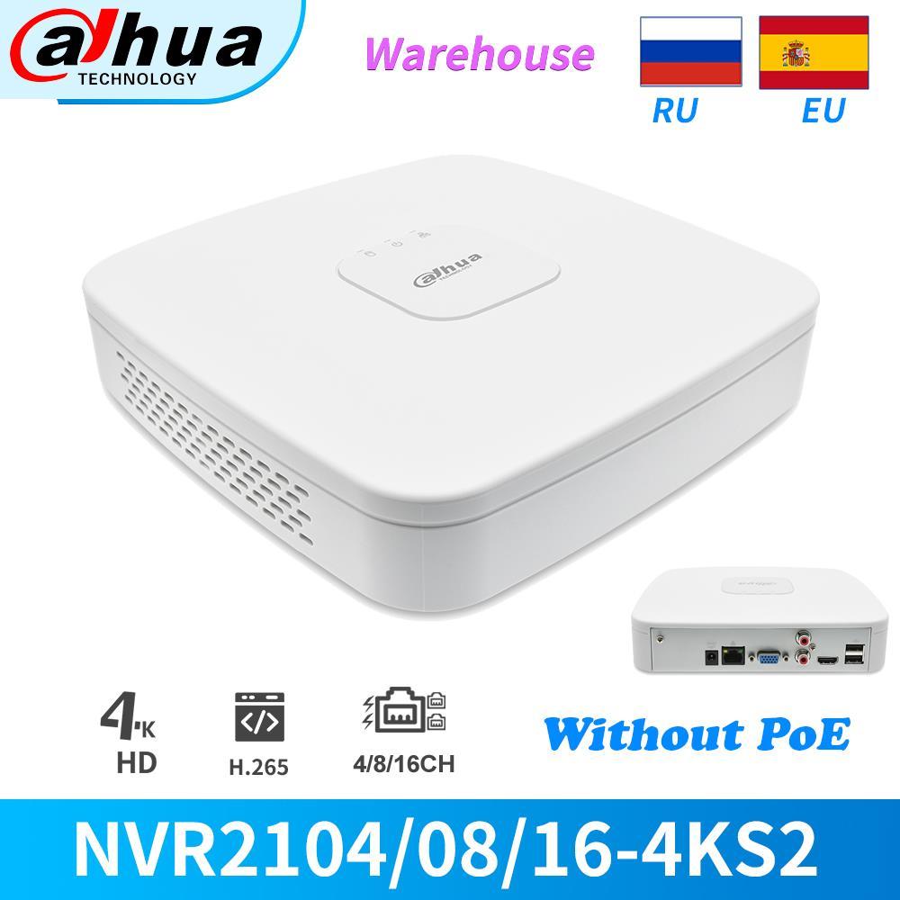 داهوا NVR 8CH 16CH 4K 8MP NVR2108-4KS2 NVR2116-4KS2 شبكة مسجل فيديو للكاميرا CCTV IP كاميرا الأمن كاميرا بدون PoE