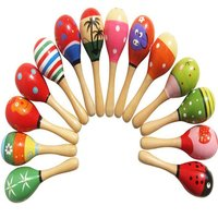 Baby Toys Wooden Rattle Cute Mini Sand Hammer Maracas Musical Instrument Toys Kids Gifts