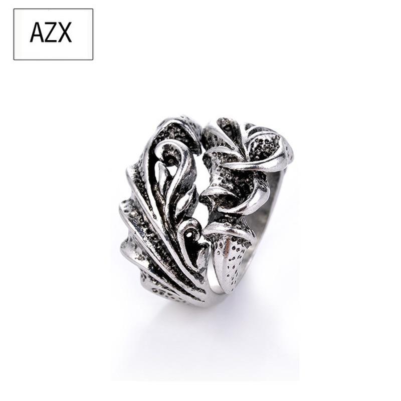 Nuevo Hombre mandón Longzhao Punk anillo Retro apertura Individual plata moda hip-hop anillo al por mayor para hombres anillos masculinos