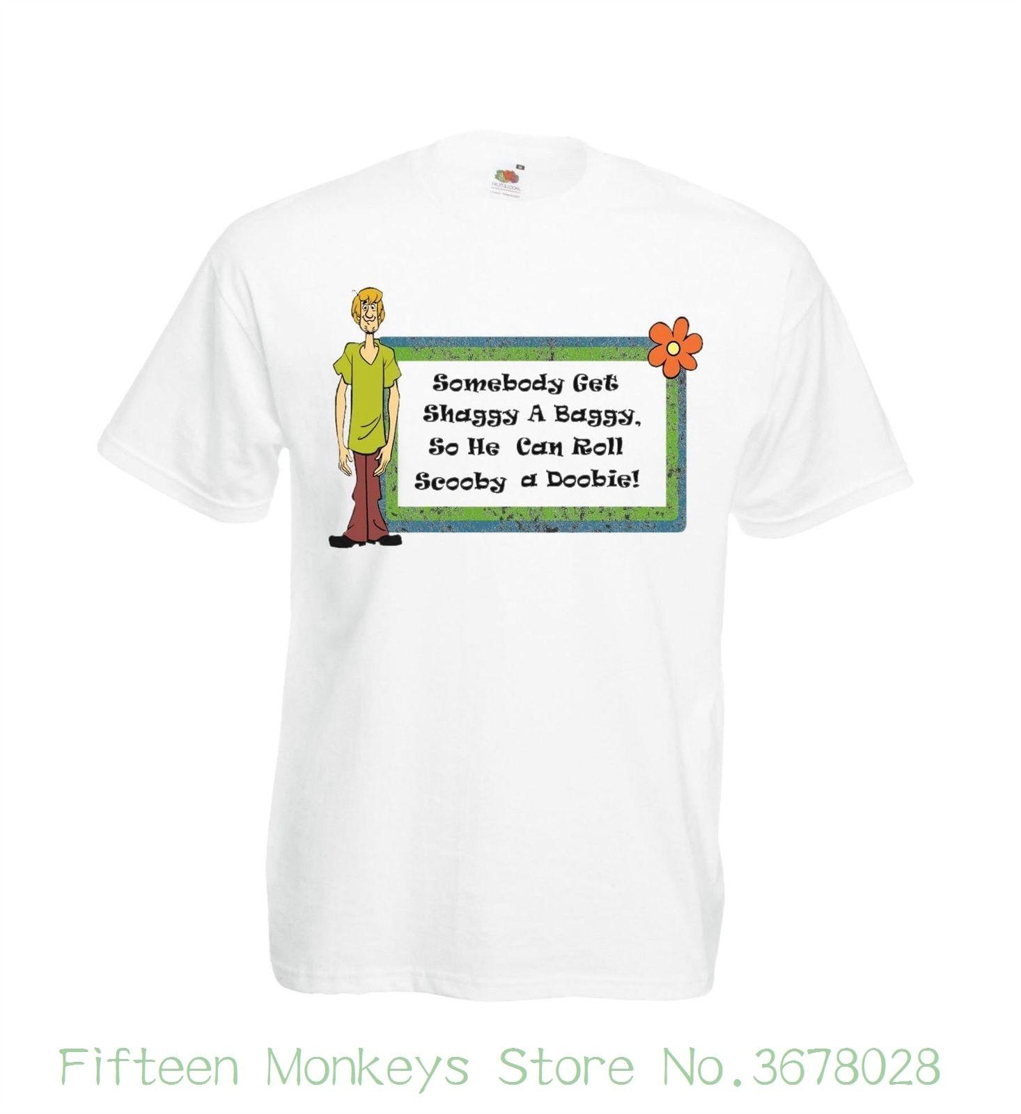 Camiseta divertida para mujer, camiseta de Scooby A Doobie, camiseta Shaggy Rogers Stoner 420 Weed, camiseta de estilo coreano Harajuku para Festival