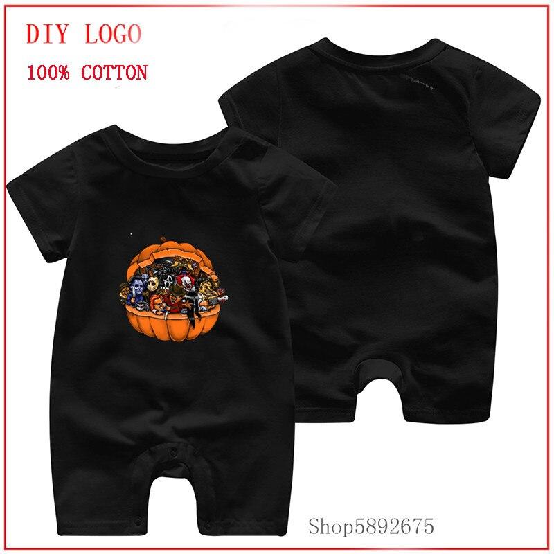 Gran oferta de verano, mono recién nacido, traje de pijama para bebés, peleles estampados de películas de terror de Halloween para niños, ropa para bebé recién nacido de 3to6 meses