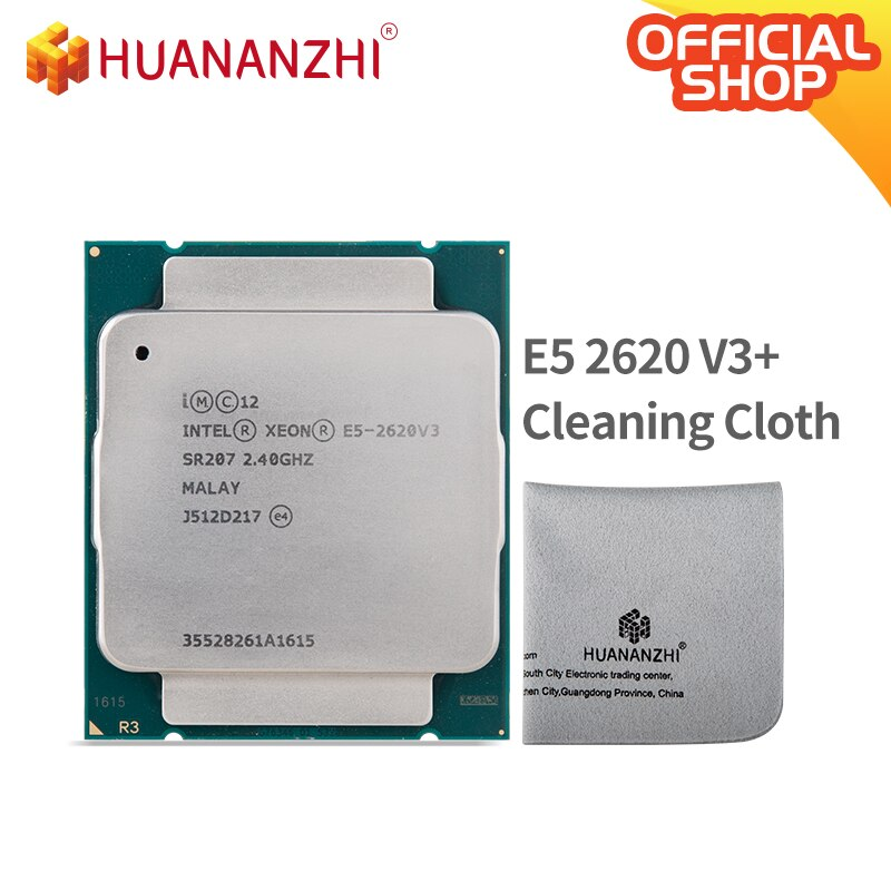 HUANANZHI تنظيف الملابس مع إنتل سيون E5 2620 V3 وحدة المعالجة المركزية 2.4G LGA 2011-3 2620V3 الكمبيوتر سطح المكتب المعالج ل X99 اللوحة الأم