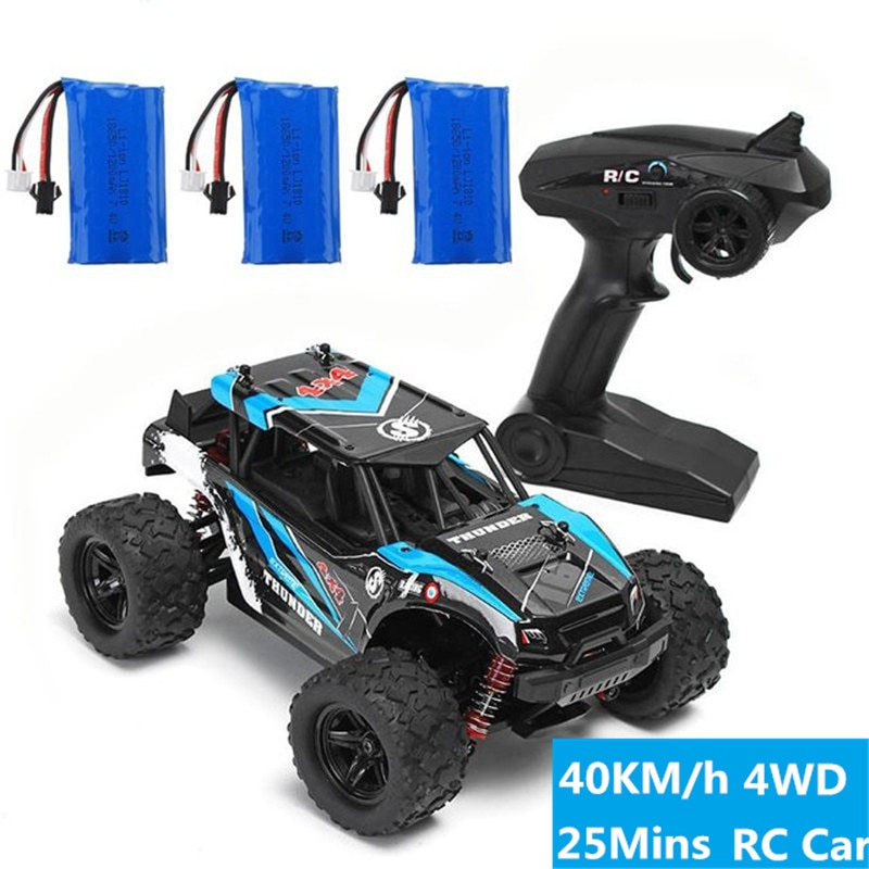 40km/h High Speed pickup 2.4G 4WD Bigfoot Remote Control Climbing off-road vehicle Car Toy With 3pcs Car Battery kid best gift