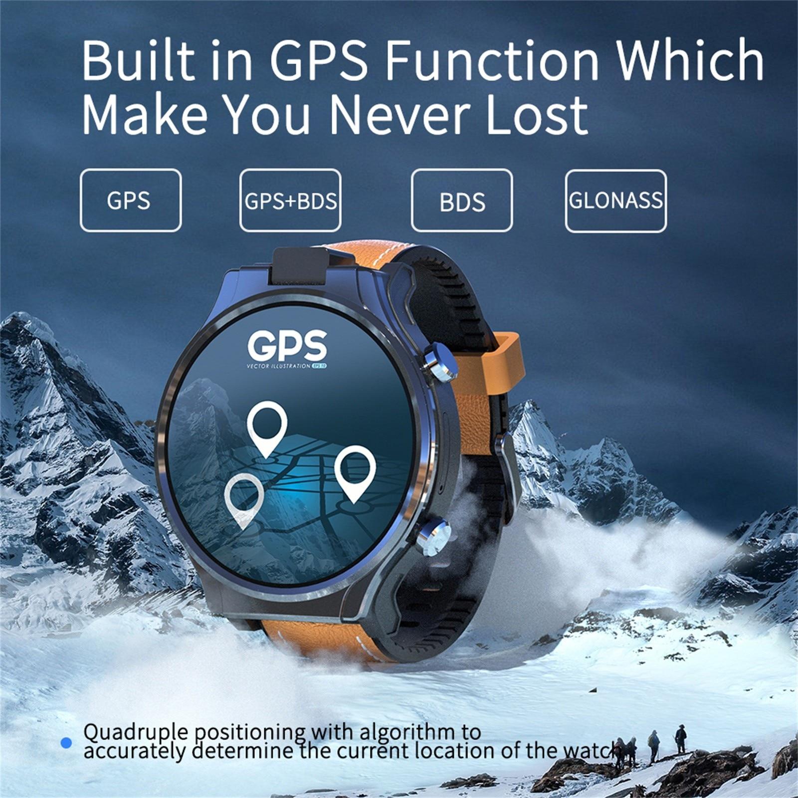متعددة الوظائف بلوتوث ساعة ذكية aplp برو 4G ساعة ذكية الرجال واي فاي لتحديد المواقع الساعات 4GB 64GB أندرويد 10.0 مشاهدة الهاتف