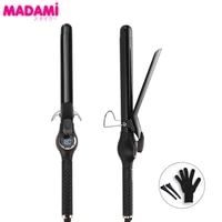 electric hair curler lcd display 25mm curling iron wand roller waver ptc fast heating ceramic flat irons hair styling tools