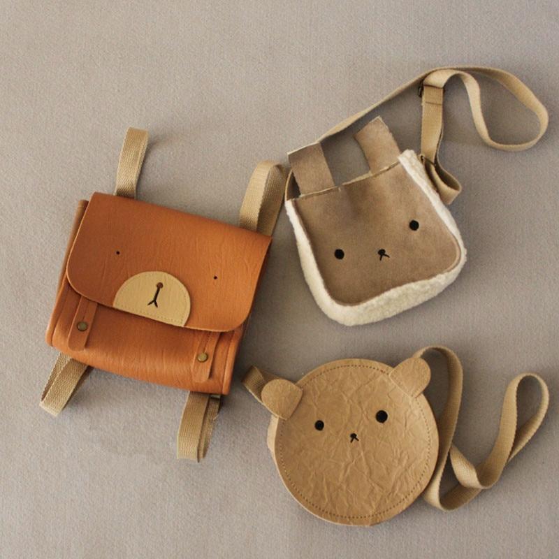 EnkeliBB Toddler Lovely Animal Bag Cute Bear Bunny Bear Crossbody Bag Baby Girl Kids All Accessory