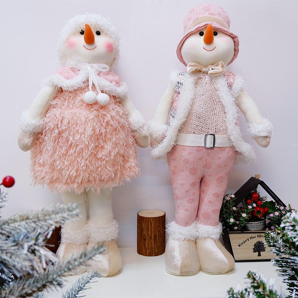 الوردي ثلج أفخم الدمى أفخم دمية محشوة عيد الميلاد الديكور مهرجان هدية للأطفال عيد ميلاد السنة الجديدة نافيداد المنزل الحلي