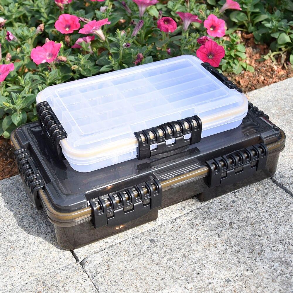 مقاوم للماء صندوق معالجة الصيد سعة كبيرة الصيد اكسسوارات صندوق تخزين العدة خطاف الصيد إغراء وهمية الطعم صندوق لوازم الصيد