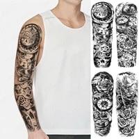 body transfer tattoo temporary tattoos for women men false hand shoulder tattoo sleeve fox snake wolf cool stuff fake tattoo arm