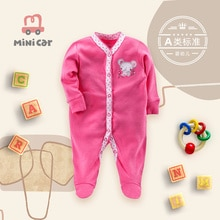 Baby cotton Romper newborn LONG SLEEVE BODYSUIT baby spring and autumn open file creeper long sleeve