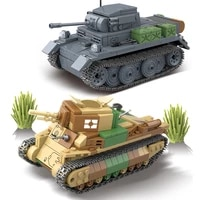 ww2 military army germany tank medium light type 89 luchs vk1303 weapons chariot sets building blocks soldiers kids toys gifts