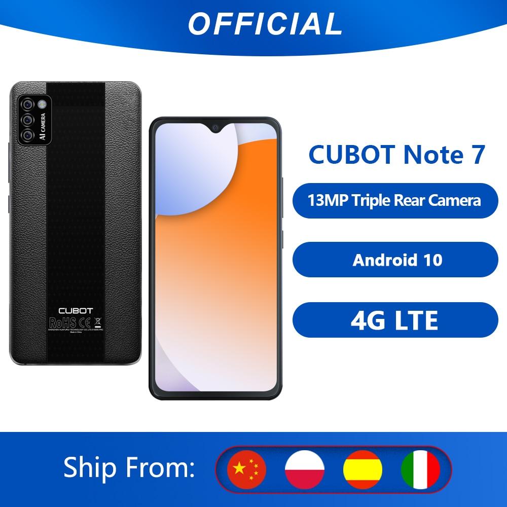 هاتف محمول Cubot Note 7, هاتف Cubot Note 7 أندرويد 10 هاتف ذكي ، كاميرا ثلاثية 13 ميجابكسل 4G LTE ، بطاقة SIM مزدوجة ، شاشة 5.5 بوصة ، بطارية 3100 مللي أمبير ، التعر...