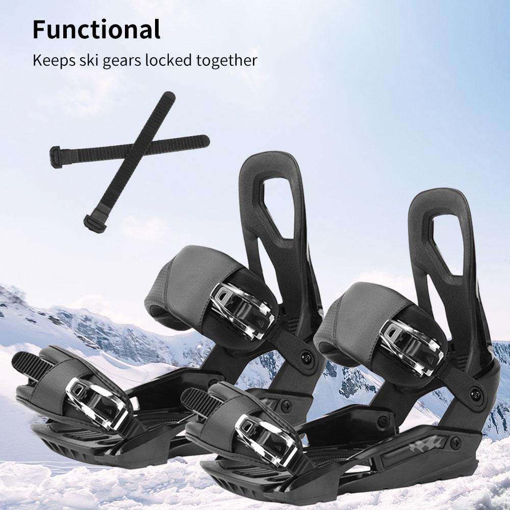 Correa de sujeción para Snowboard, accesorios de equipo de esquí, negro, 2...