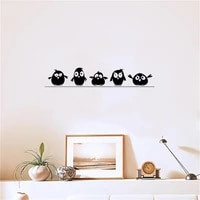 lovely five birdies wall sticker kids rooms living room background decoration mural art decals cute bird stickers for home decor