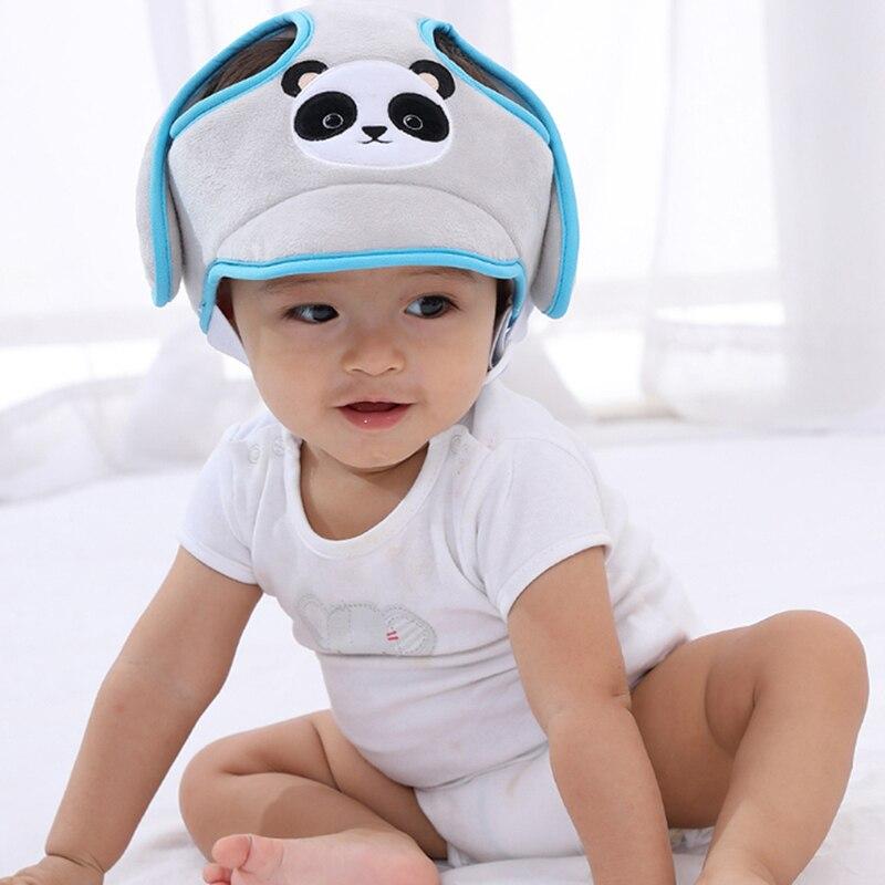 Capacete infantil macio de proteção de cabeça, proteção de cabeça para bebês, capacete de segurança anti-colisão, proteção de algodão para bebês